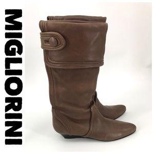 💕SALE💕 💕 Migliorini Italian Brown Leather Boots
